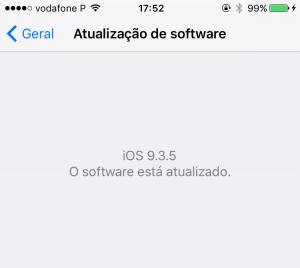 iOS: Útima versão disponível